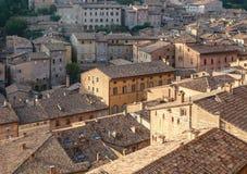 Tetti delle case Urbino L'Italia, Marche Fotografie Stock