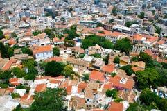 Tetti di Atene Fotografia Stock Libera da Diritti