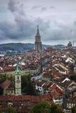 Tetti di Bern Switzerland Fotografia Stock