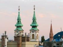 Tetti di Budapest Fotografia Stock