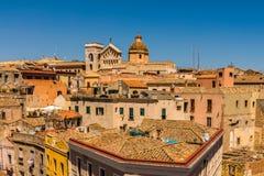 Tetti di Cagliari in Sardegna fotografia stock