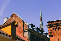 Tetti di Città Vecchia a Tallinn immagini stock