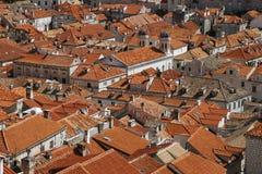 Tetti di Dubrovnik immagini stock