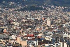 Tetti di generalità della città di Barcellona Immagini Stock Libere da Diritti