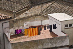 Tetti di Girona, Catalogna Immagine Stock Libera da Diritti