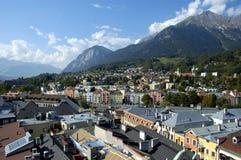 Tetti di Innsbruck Fotografia Stock Libera da Diritti
