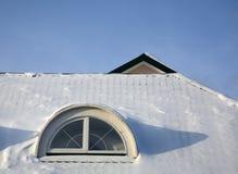 Tetti di inverno Fotografie Stock