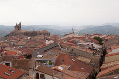 Tetti di Laguardia, regione di Rioja, Spagna Immagine Stock Libera da Diritti