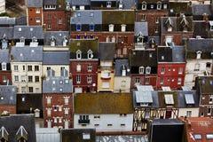 Tetti di Le Treport, Francia fotografie stock libere da diritti