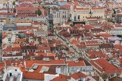 Tetti di Lisbona Fotografia Stock