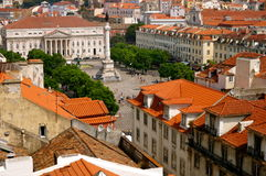 Tetti di Lisbona Fotografie Stock