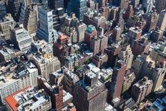 Tetti di Manhattan Fotografie Stock