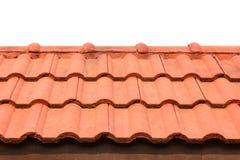 Tetti di mattonelle arancioni Fotografie Stock