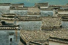 Tetti di mattonelle cinesi Immagini Stock Libere da Diritti
