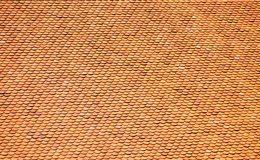Tetti di mattonelle tradizionali delle tempie cambogiane Immagine Stock Libera da Diritti
