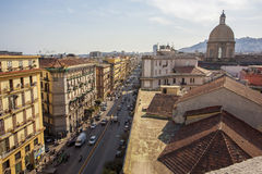 Tetti di Napoli Fotografia Stock Libera da Diritti