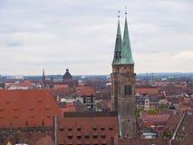 Tetti di Norimberga Fotografie Stock