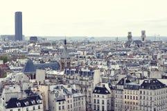 Tetti di Parigi con una veduta panoramica da Notre Dame de Paris Fotografie Stock