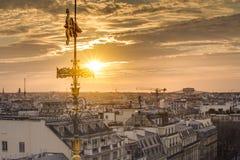 Tetti di Parigi da Galeries Lafayette Fotografie Stock