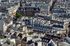Tetti di Parigi da Notre-Dame immagine stock