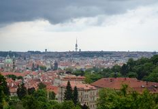 Tetti di Praga Immagine Stock