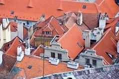Tetti di Praga Repubblica ceca fotografia stock