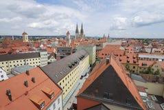 Tetti di Regensburg Immagine Stock Libera da Diritti
