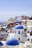 Tetti di Santorini Immagine Stock