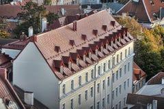 Tetti di Tallinn Estonia Fotografia Stock