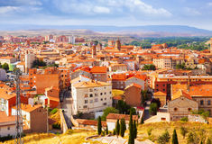 Tetti di Teruel nel giorno di estate Fotografie Stock
