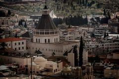 Tetti di vecchia città a Nazaret fotografia stock