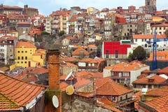 Tetti di vecchia città, Oporto, Portogallo Immagini Stock
