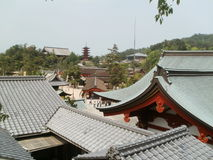 Tetti in Itsukushima Fotografia Stock