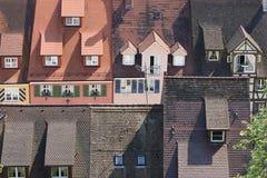 Tetti in Meersburg Germania Immagine Stock