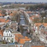 Tetti piastrellati a Delft in primavera Fotografie Stock