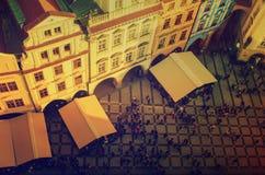 Tetti rossi di Praga Immagini Stock Libere da Diritti
