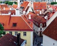Tetti rossi di vecchia Tallinn Fotografia Stock Libera da Diritti