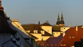 Tetti a Sibiu, la Transilvania Fotografia Stock Libera da Diritti