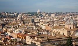 Tetti su Roma Immagini Stock Libere da Diritti