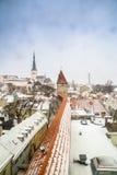 Tetti a Tallinn Immagini Stock Libere da Diritti