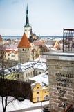 Tetti a Tallinn Fotografia Stock Libera da Diritti