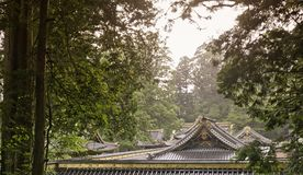 Tetti tradizionali antichi di Japanease fotografie stock
