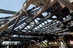 Tetto bruciato Fotografie Stock Libere da Diritti