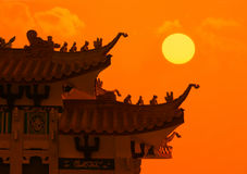 Tetto cinese del drago Fotografia Stock