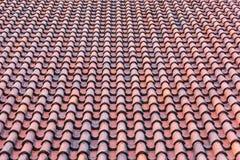 Tetto con le mattonelle rosse Fotografia Stock