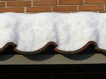 Tetto con neve Immagine Stock Libera da Diritti
