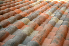 Tetto coperto di tegoli spagnolo immagine stock libera da diritti