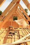 Tetto in costruzione Fotografia Stock
