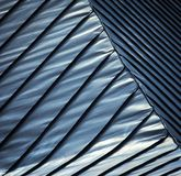 Tetto d'acciaio blu Fotografia Stock