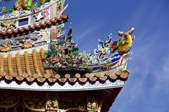 Tetto decorativo della Chinatown Immagine Stock Libera da Diritti